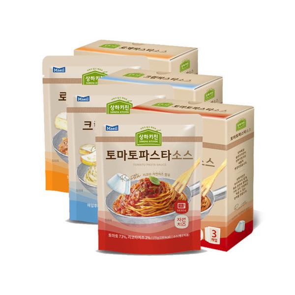 상하목장 슬로우키친파스타 크림+로제+토마토 각3팩 상품이미지