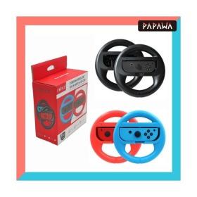 파파와 닌텐도 스위치 조이콘 레이싱 핸들 휠 게임