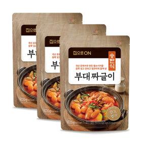 (신제품) 집으로ON 송탄식 부대짜글이 400g X 3봉