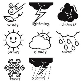 stamp 날씨스탬프(도장 8개 세트)