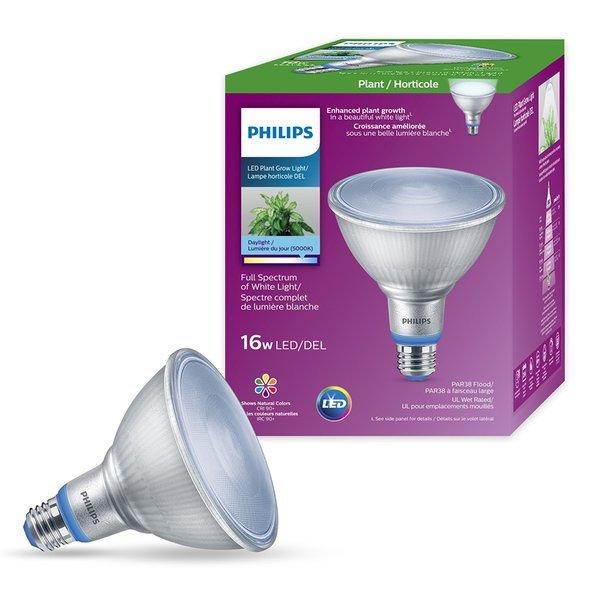 필립스 햇빛조명 LED PAR38 16W 식물 조명 재배등 식물 성장 태양광 조명 LED식물등 아파트  사무실 실... 상품이미지