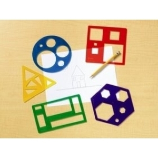 EDU 5440  기본 도형 그리기 자 세트 / 도형세트 / 그리기세트 / 자 상품이미지