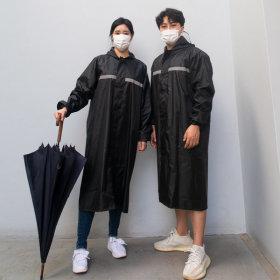 남자 우비 레인코트 코트형 우의 비옷 (옥스포드소재)