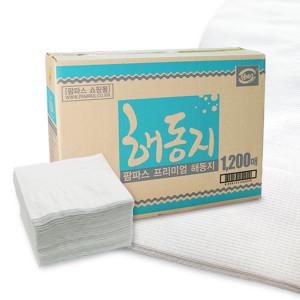 해동지 1200매 미트페이퍼 키친타월 핸드타올 천연펄프