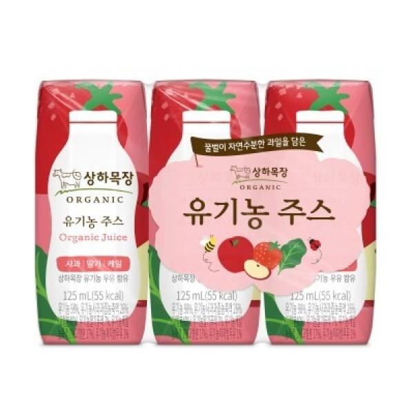 매일)상하목장유기농주스사과딸기케일125ML 3 상품이미지
