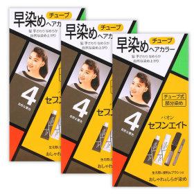 세븐에이트 헤어칼라 염색약 4호 연한갈색 40g x3개
