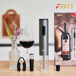 파빗 전동 와인 오프너 코르크 자동 따개 선물세트