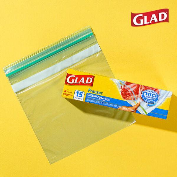 글래드  냉동형 대형 지퍼백(15매입) 상품이미지