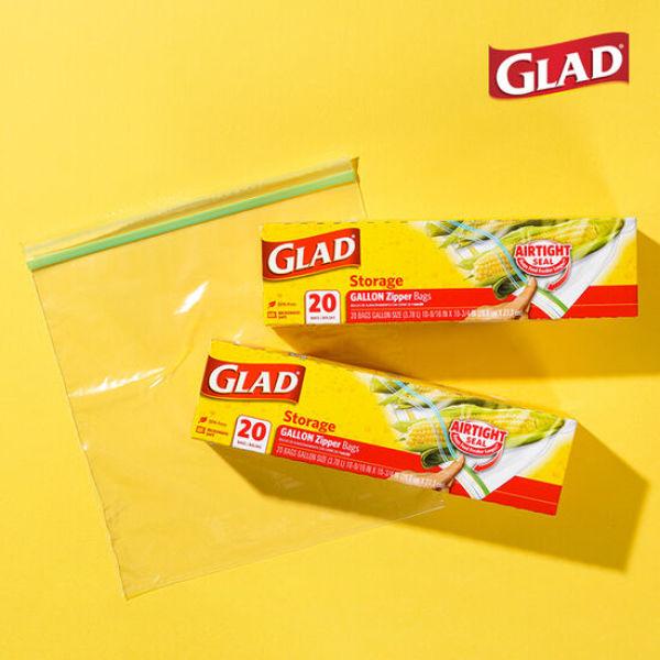 글래드  냉장형 대형 지퍼백(20매입) 2개 세트 상품이미지