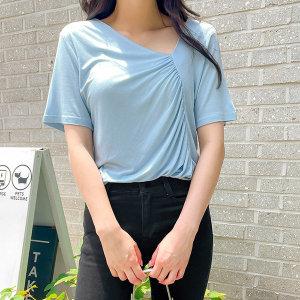 싱즈 브이넥 셔링 티셔츠 60104빅사이즈