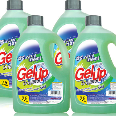 Gel up highly concentrated liquid detergent 2.5L x 4pcs total 10000ml laundry detergent