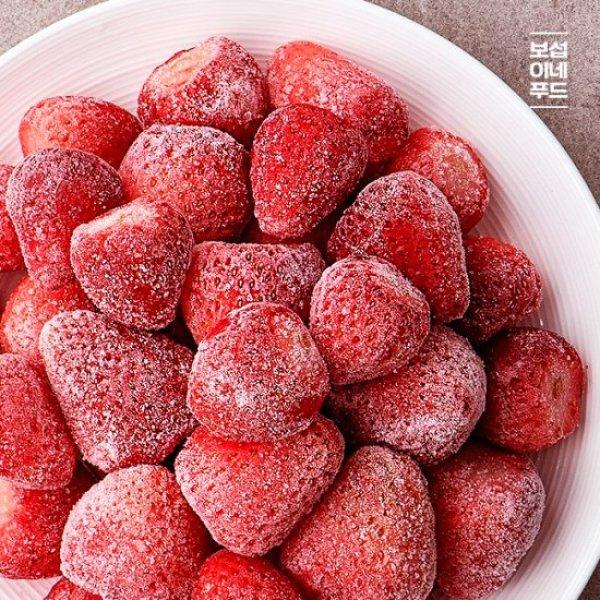 보섭이네푸드 사계절 즐기는 논산 냉동딸기 1kg(500g 상품이미지