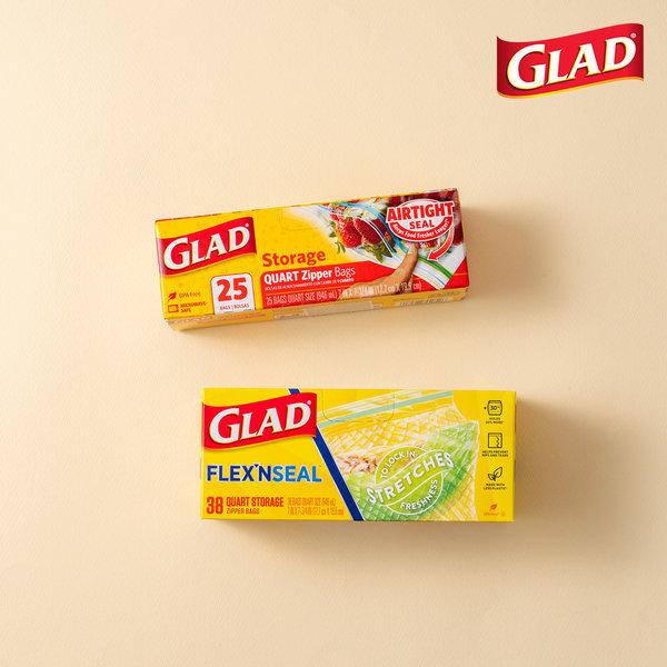 글래드  지퍼백 일반중형+플렉스앤씰 냉장중형(38매) 상품이미지