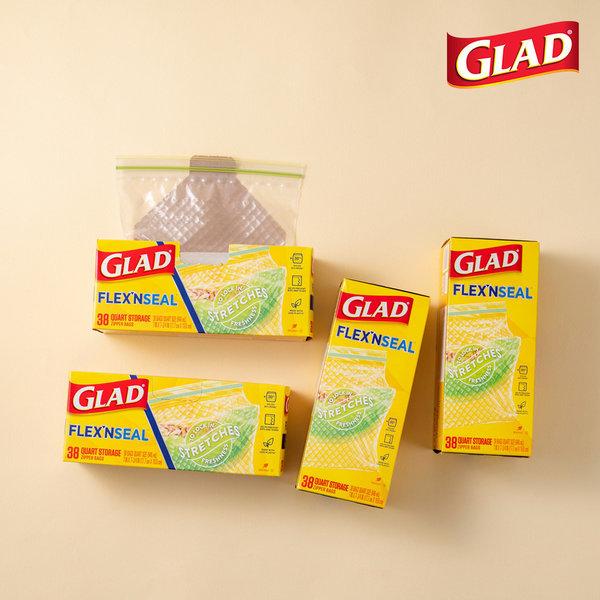 글래드  플렉스앤씰 냉장 중형(38매) 4개세트 상품이미지