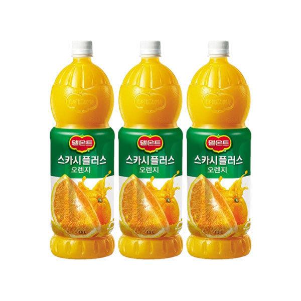 델몬트 스카시플러스 오렌지주스 1.5LX3/오렌지쥬스 상품이미지