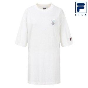 남녀공용 휠라 X doowop 다이빙 인 썸머 우먼 티셔츠