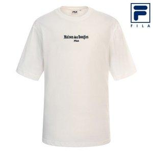 남녀공용 휠라 X 메종데부지 로고 티셔츠 FS2RSC2M01X