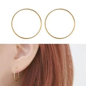 미니아트  14K GOLD 베이직 링 귀걸이 18mm