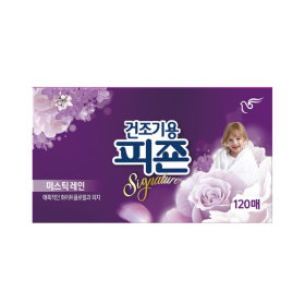 피죤 건조기용 섬유유연제 미스틱레인 120매 1개