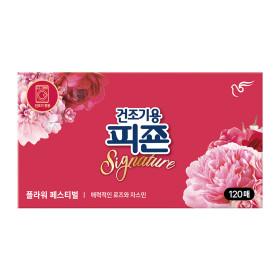 피죤 건조기용 섬유유연제 플라워페스티벌 120매 1개
