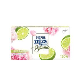 피죤 건조기용 섬유유연제 보타닉 핑크부케 120매 1개