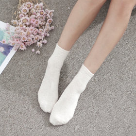Socks collection / anklet / mid-calf / character printed / polka dot / ribbed / solid color /
