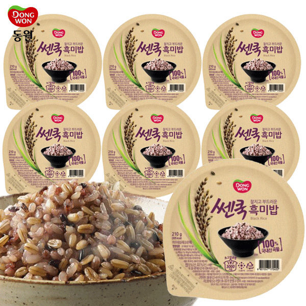 동원 쎈쿡 100% 흑미밥 210g x 7 (7개) / 즉석밥 상품이미지