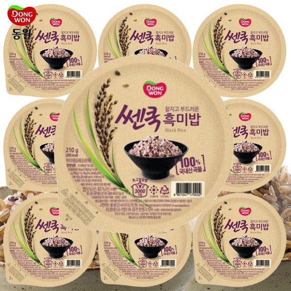 동원 쎈쿡 100% 흑미밥 210g x 10 (10개) / 즉석밥 상품이미지