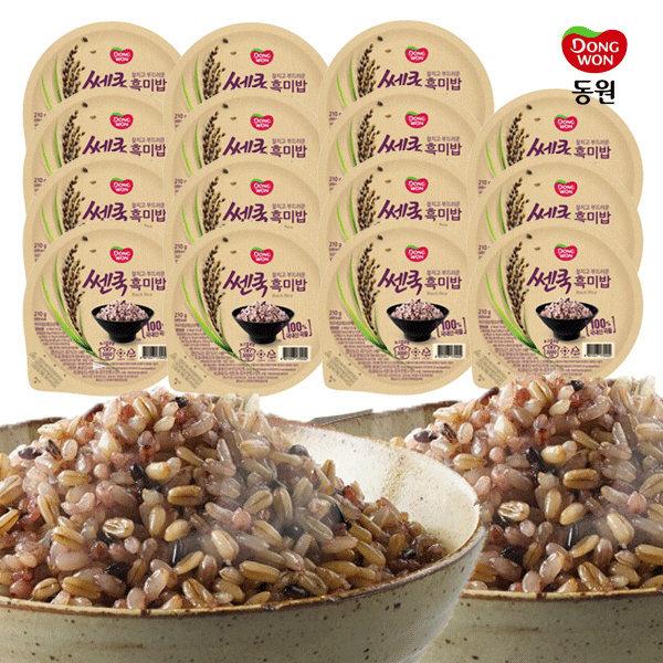 동원 쎈쿡 100% 흑미밥 210g x 15 (15개) / 즉석밥 상품이미지