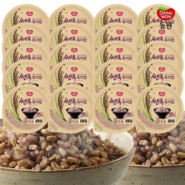 동원 쎈쿡 100% 흑미밥 210g x 20 (20개) / 즉석밥 상품이미지