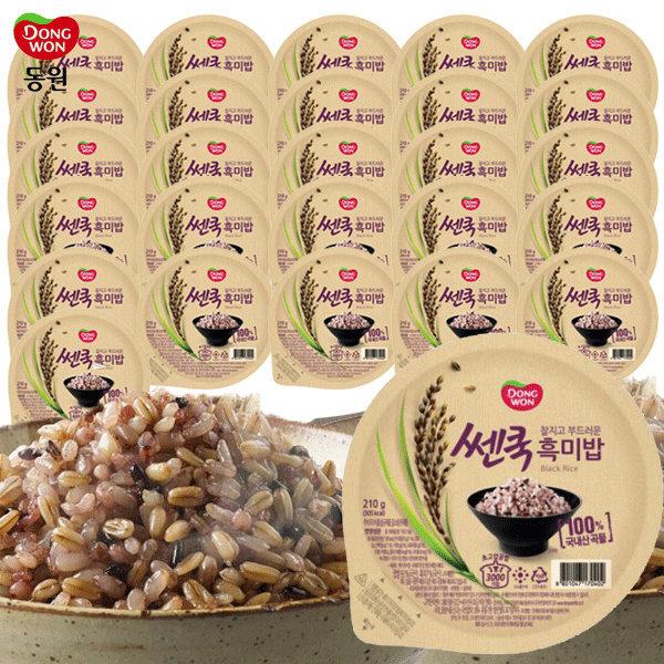 동원 쎈쿡 100% 흑미밥 210g x 27 (27개) / 즉석밥 상품이미지