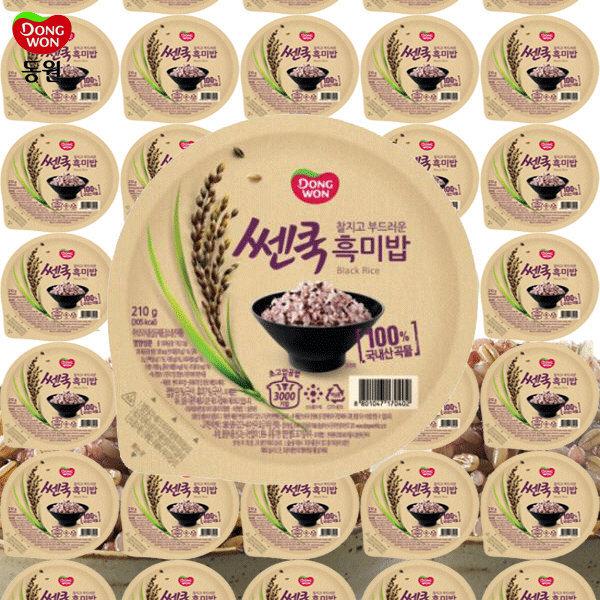 동원 쎈쿡 100% 흑미밥 210g x 35 (35개) / 즉석밥 상품이미지