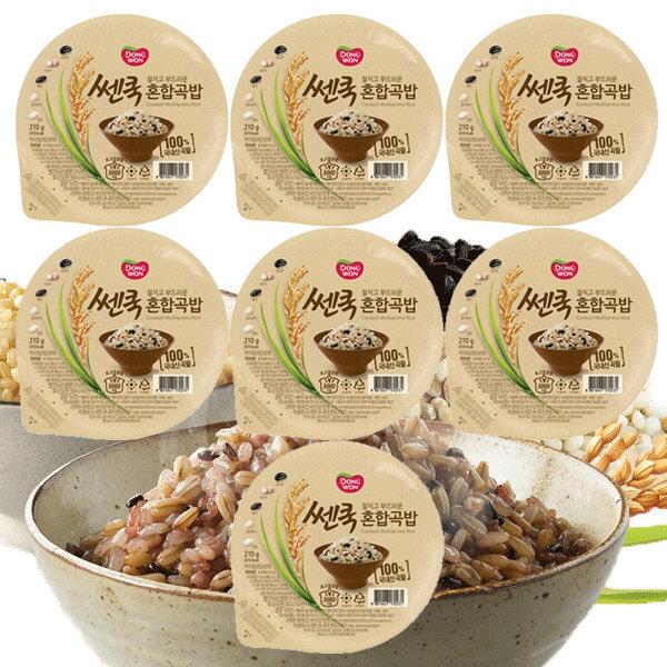 동원 쎈쿡 100% 혼합곡밥 210g x 7 (7개) / 즉석밥 상품이미지