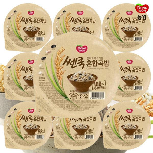 동원 쎈쿡 100% 혼합곡밥 210g x 10 (10개) / 즉석밥 상품이미지
