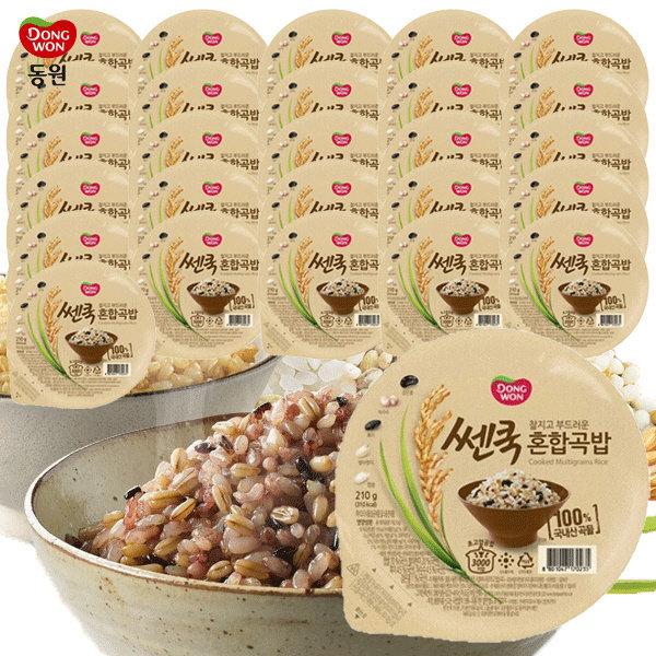동원 쎈쿡 100% 혼합곡밥 210g x 27 (27개) / 즉석밥 상품이미지