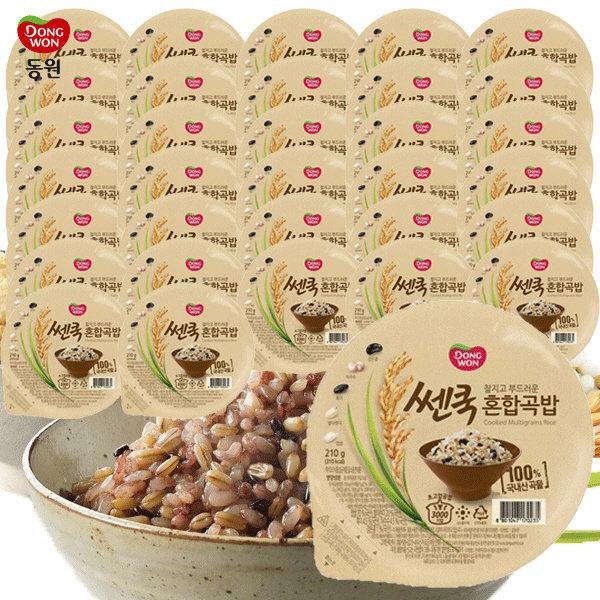 동원 쎈쿡 100% 혼합곡밥 210g x 35 (35개) / 즉석밥 상품이미지