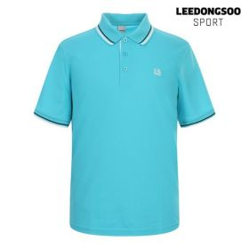 [이동수스포츠] [하프클럽/이동수]이동수 골프웨어 여름 남성 배색 반팔 카라 티셔츠 스카이