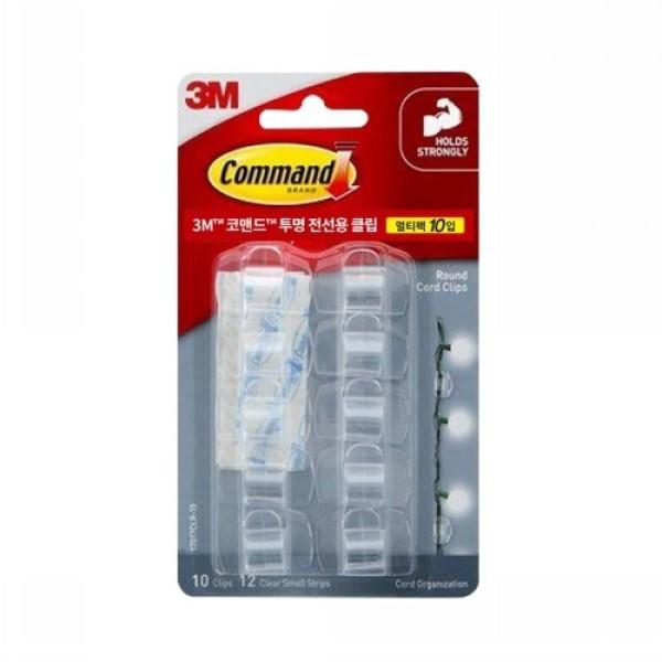 3M 코맨드 투명 전선용클립 멀티팩 (10입) 상품이미지