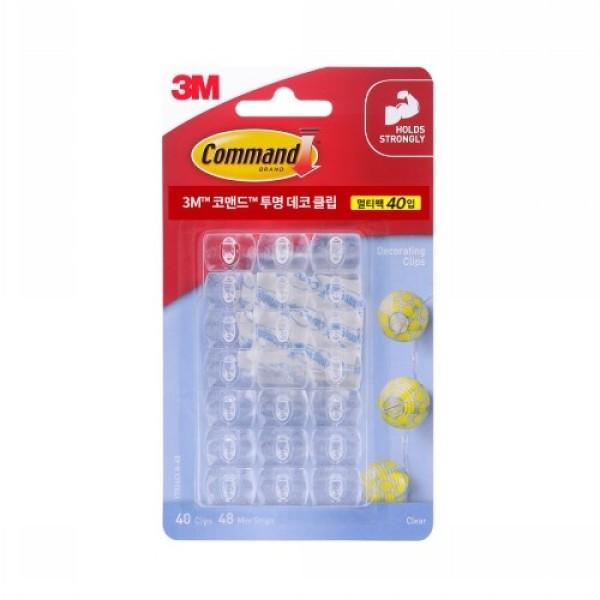 3M 코맨드 투명 데코 클립멀티팩 (40입) 상품이미지