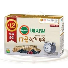 정식품 베지밀 17곡 한끼두유 (190ML 12입+12입)