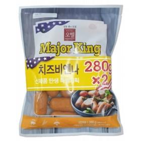 오뗄 메이저킹 치즈 비엔나 (560G)