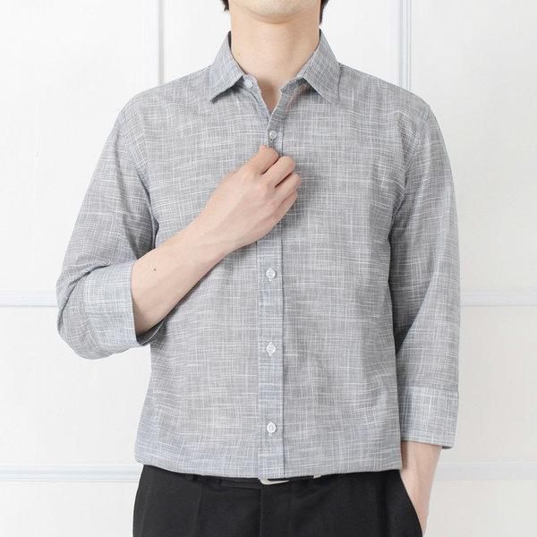 남자 여름 셔츠 보카시 투버튼 7부셔츠 시즌오프세일 상품이미지