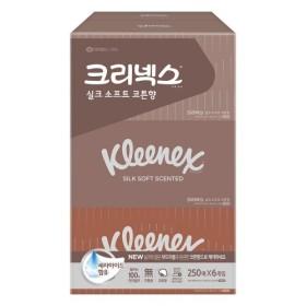 크리넥스 실크소프트 코튼향 (250매 6입)