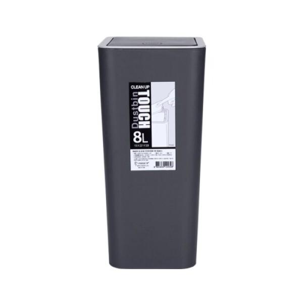 클린업 터치 휴지통 (블랙) (8L) 상품이미지
