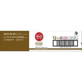 씨제이 햇반 현미쌀밥 (210G 12입)
