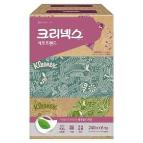 크리넥스 에코프렌드 2겹 미용티슈 (240매 6입)