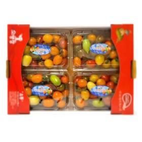 [오렌지씨푸드] [오렌지씨]컬러 대추 방울토마토 750g 4팩 총3kg