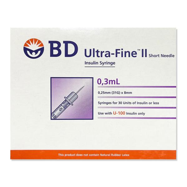 BD 인슐린 주사기 31G 8mm 0.3cc 100개입 상품이미지