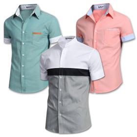 [JBOOM] Men`s shirt collection / button-down collar / henley shirt / pattern / solid color / linen /