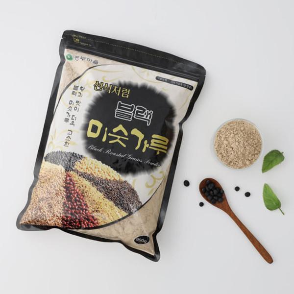 농부마을 블랙미숫가루 900gX1봉-검은콩25%/식사대용 상품이미지